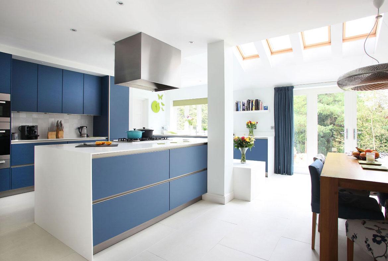 Blue Kitchen Cabinets - Sebring Design Build